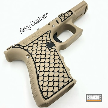 Cerakoted Laser Stippled Glock Frame In H-199