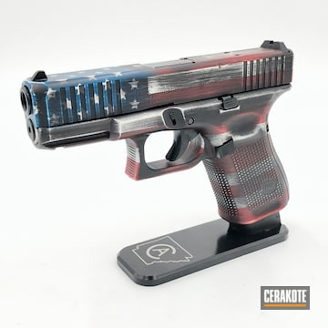 Cerakoted American Flag Battleworn Glock 19