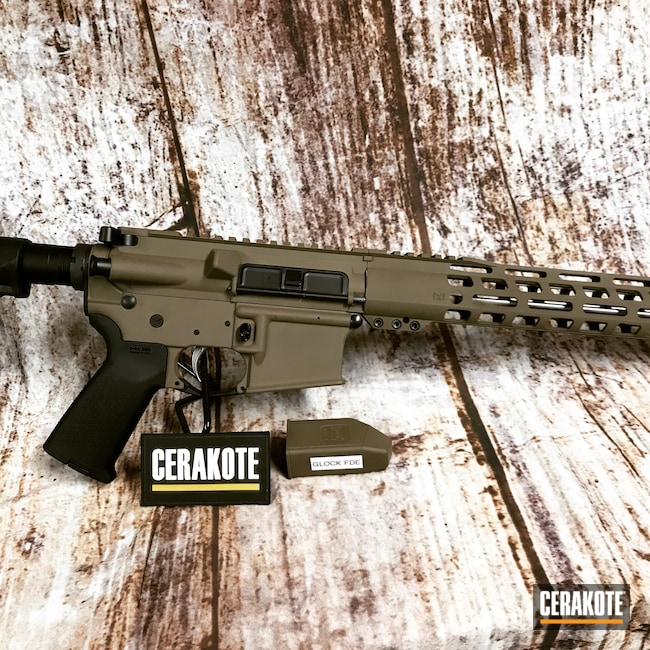 Cerakoted: S.H.O.T,Anderson Mfg.,Anderson,Tactical Rifle,.223,AM-15,GLOCK® FDE H-261