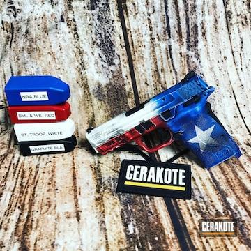 Cerakoted Smith & Wesson Texas Flag Handgun