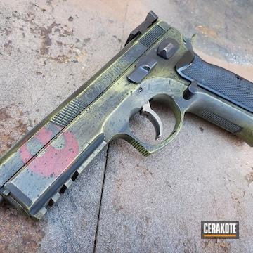 Cerakoted Star Wars Themed Cz 75 Handgun In H-146, H-313 And H-216