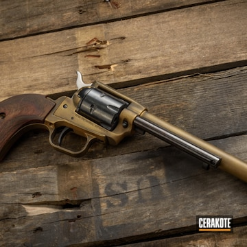 Cerakoted Rustic .22 Revolver In H-190 And H-122