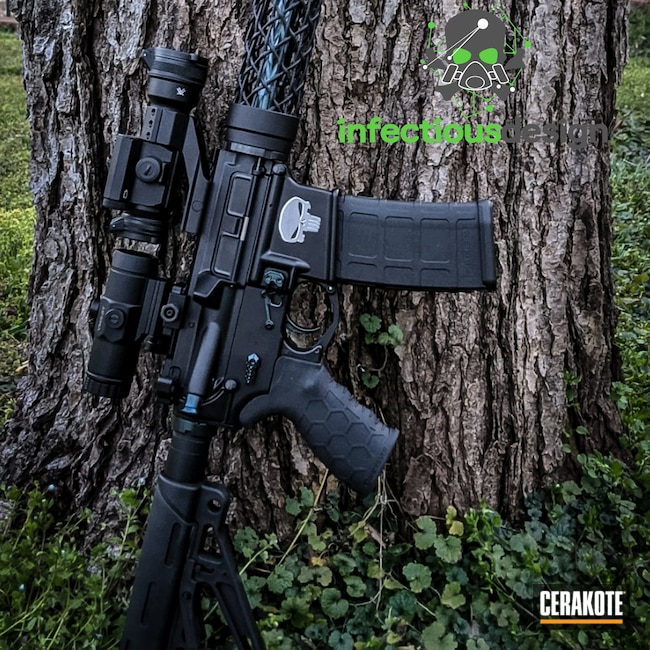 Cerakoted: S.H.O.T,Graphite Black H-146,Tactical Rifle,.223,AR-15,GunCandy