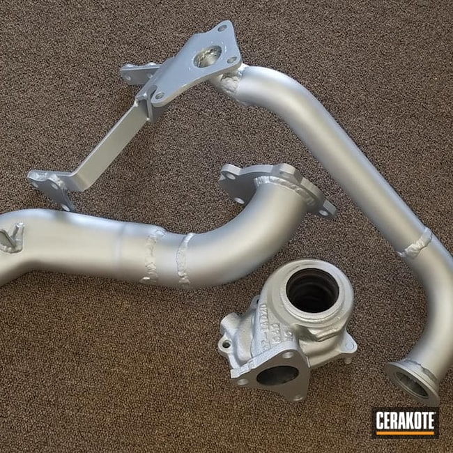 Cerakoted: More Than Guns,Automotive,Turbo Exhaust,CERAKOTE GLACIER SILVER C-7700,Turbo,Exhaust Pipes,High Temperature