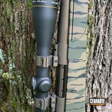 Cerakoted Refinished Rifle Scope In H-146