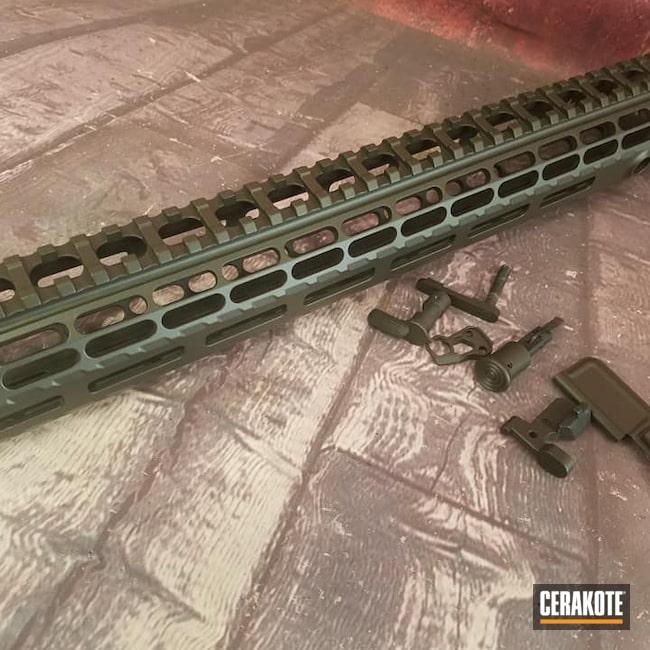 Cerakoted: S.H.O.T,AR15 Handrail,Handguards,Gun Parts,MAGPUL® O.D. GREEN H-232