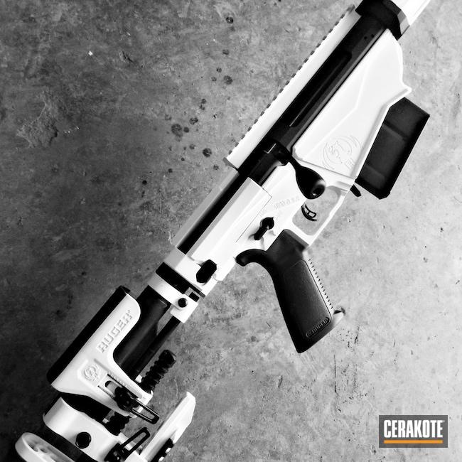 Cerakoted: S.H.O.T,Rifle,Ruger,.338 lapua,Bolt Action,BLACKOUT E-100,Ruger Precision Rifle,longrange,Stormtrooper White H-297