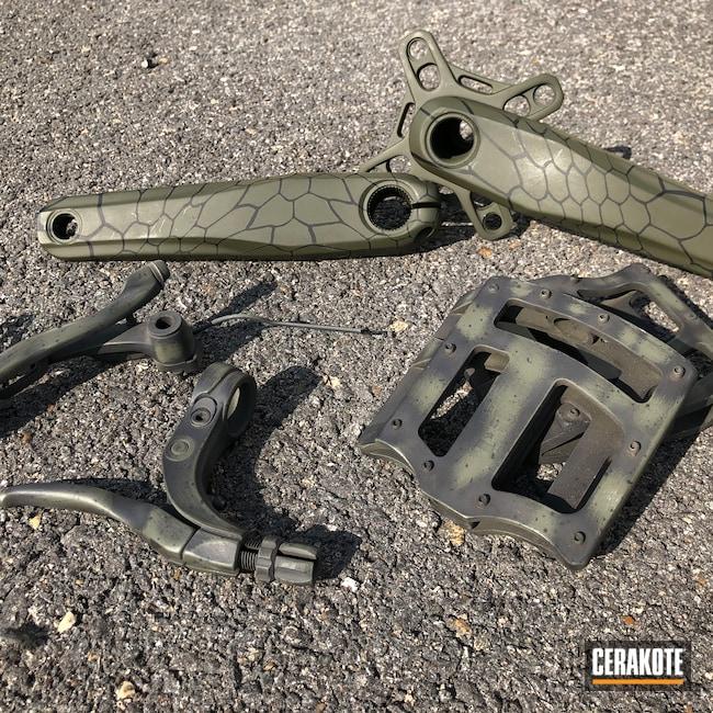 Cerakoted: Kryptek,Graphite Black H-146,Motorcycles,Distressed,Bike,Automotive,Magpul OD Green,MAGPUL® O.D. GREEN H-232