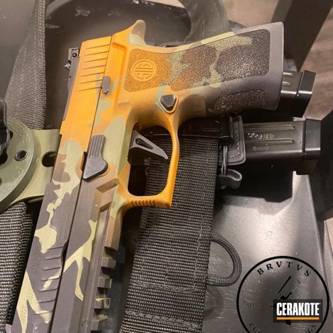 Cerakoted Sig Sauer Xs 9mm Handgun In H-309, H-343 And H-146