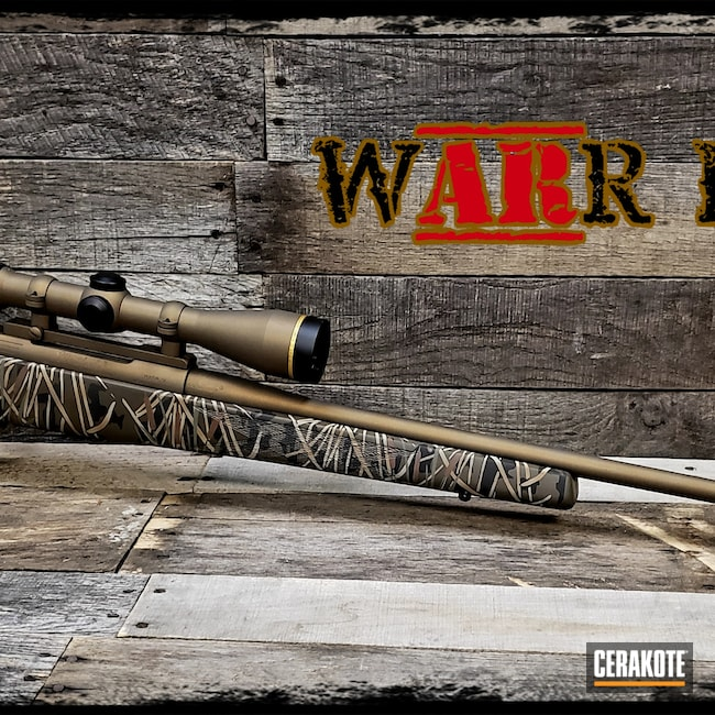 Cerakoted: S.H.O.T,Bolt Action Rifle,Wetland Camo,Shotgun,BARRETT® BROWN H-269