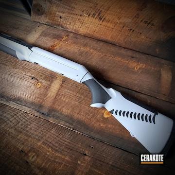 Cerakoted Benelli 12 Gauge Shotgun In H-242 And H-146