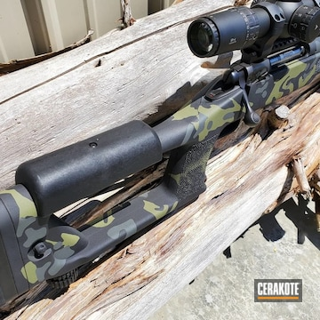 Cerakoted Multicam Savage Arms 110 Rifle In H-146, H-189 And H-210