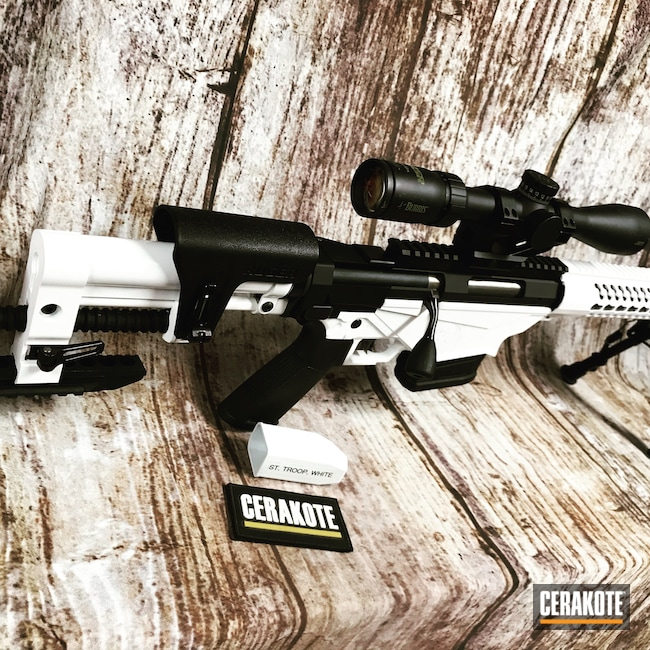 Cerakoted: S.H.O.T,Rifle,Bolt Action Rifle,Ruger,Stormtrooper White H-297