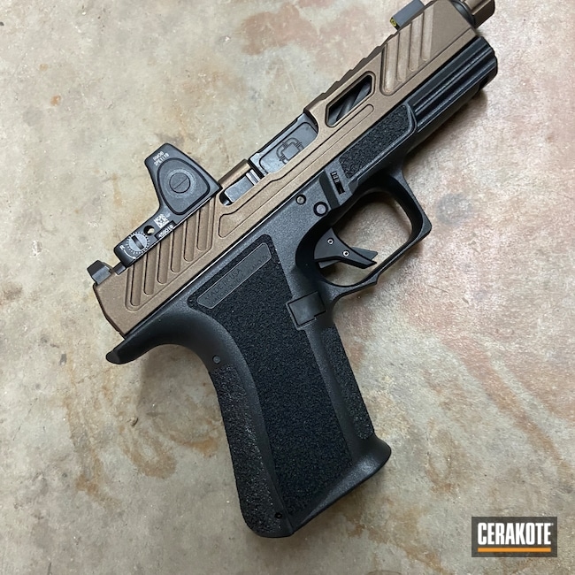 Cerakoted: S.H.O.T,MR920,Shadow Systems,9mm Luger,Pistol,Midnight Bronze H-294