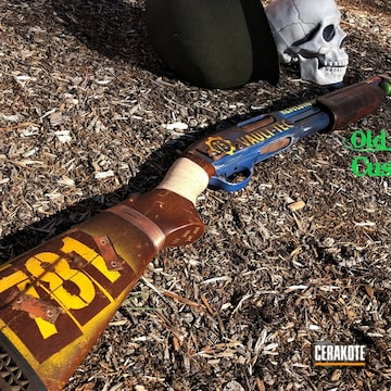 Cerakoted Fallout Video Game Themed Shotgun