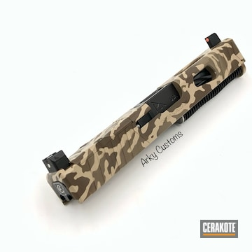 Cerakoted Custom Rival Arms Slide In Arid Multicam