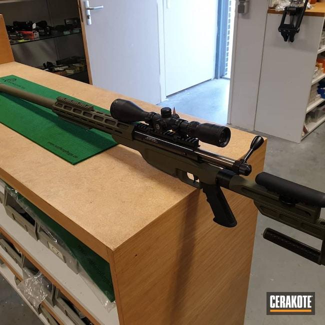 Cerakoted: S.H.O.T,Bolt Action Rifle,Sniper Green H-229,375 Cheytac,Barnard Precision