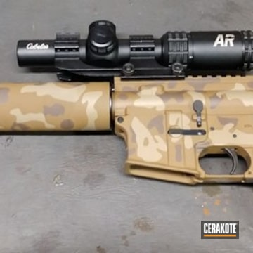 Cerakoted Ar Pistol Camo Pattern In H-235, H-250 And H-258