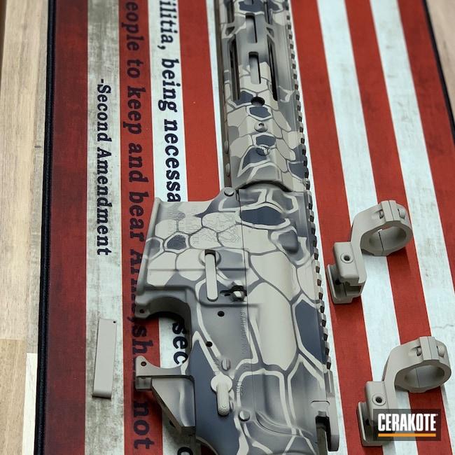 Cerakoted: S.H.O.T,Kryptek,Bear Creek Arsenal,Desert Sand H-199,Tactical Rifle,.223,AR-15