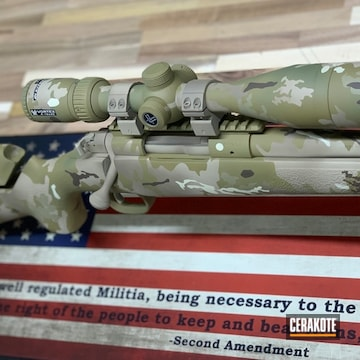 Cerakoted .308 Multicam Bolt Action Rifle In H-339