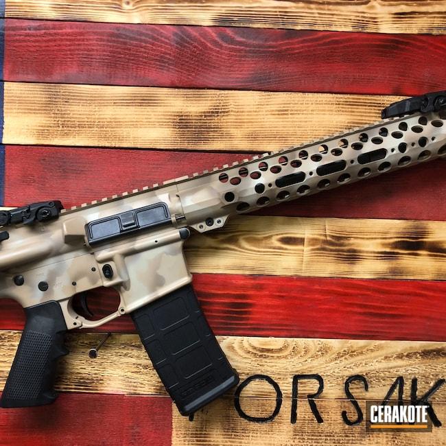 Cerakoted: S.H.O.T,Desert Camo,Desert Sage H-247,Del-Ton,Desert Sand H-199,Tri-Color,Tactical Rifle,Flat Dark Earth H-265,AR-15