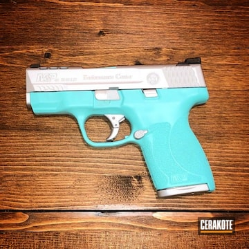 Cerakoted Two Toned .45 Smith & Wesson Handgun In H-175 And H-151