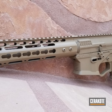 Cerakoted Tactical Rifle In H-267
