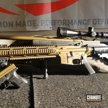 Cerakoted Gun Parts In H-148