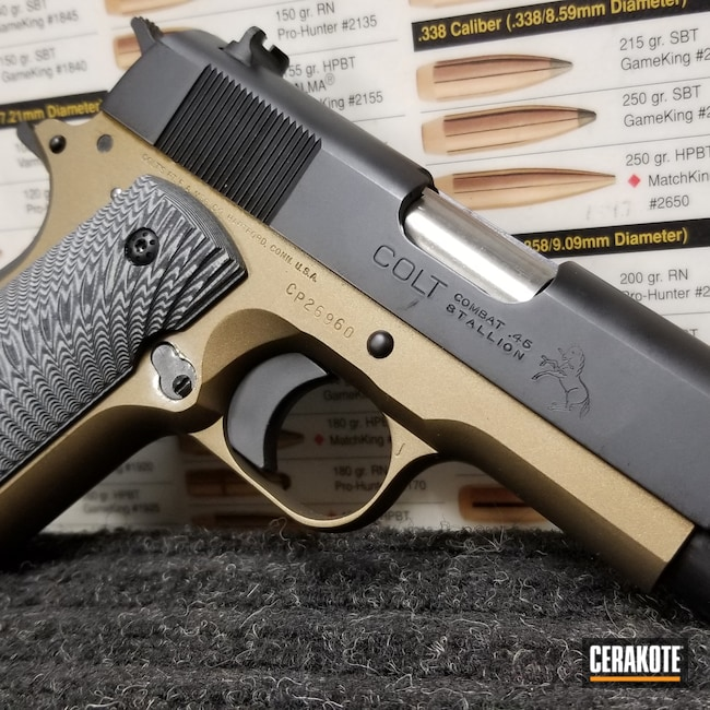 Cerakoted: S.H.O.T,Two Tone,Colt,Burnt Bronze H-148,Pistol,1911