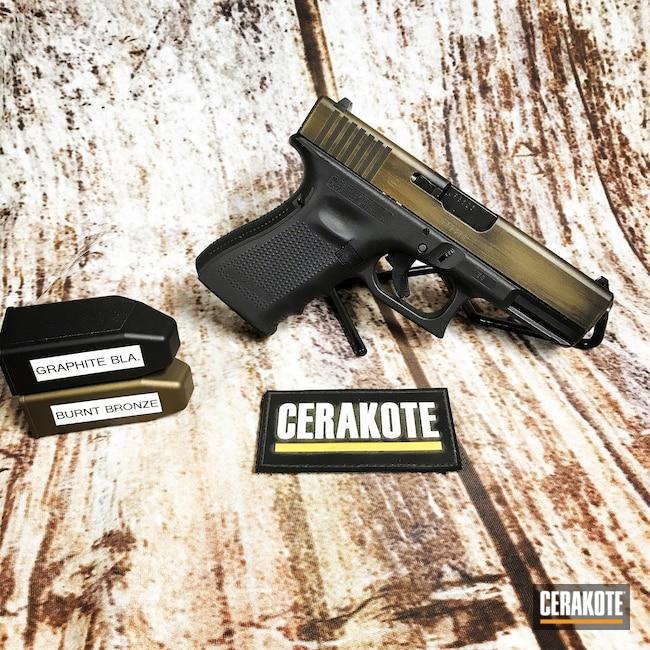 Cerakoted: S.H.O.T,Graphite Black H-146,23,Burnt Bronze H-148,Pistol,Glock