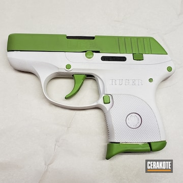 Cerakoted Two Toned Ruger Lcp Handgun In H-136 And H-168