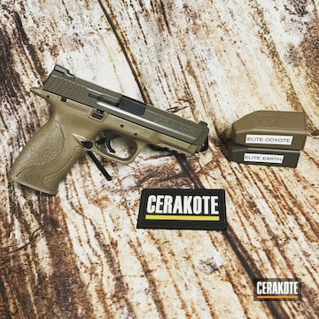Cerakoted Two Toned Smith & Wesson In E-170 And E-130