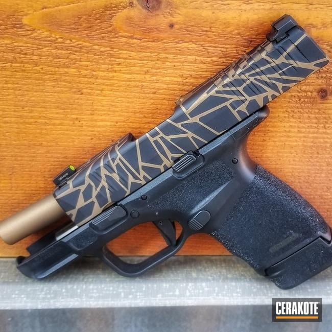 Cerakoted: S.H.O.T,9mm,Graphite Black H-146,Burnt Bronze H-148,Camo,Fractured,Pistol,Springfield Armory,Hellcat
