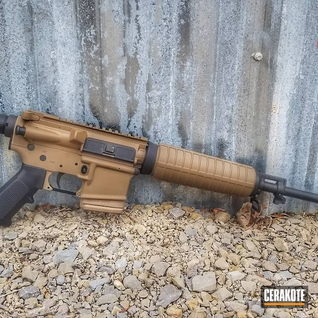 Cerakoted: S.H.O.T,Coyote Tan H-235,Two Tone,Tactical Rifle,.223,5.56,AR-15