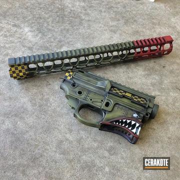 Cerakoted P40 Themed Gun Parts