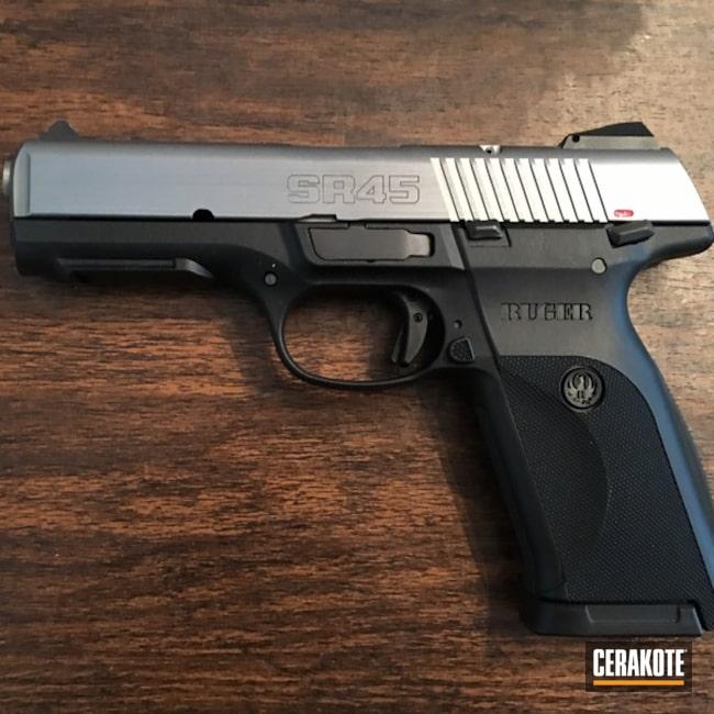 Cerakoted Ruger Sr45 Handgun In V-169 And V-139