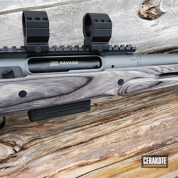 Cerakoted Savage Bolt Action Rifle In E-100 And H-237