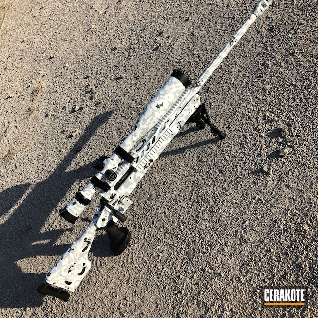 Cerakoted: S.H.O.T,Bolt Action Rifle,Hunting Rifle,.338,Stormtrooper White H-297,GLOCK® GREY H-184,Savage,BATTLESHIP GREY H-213