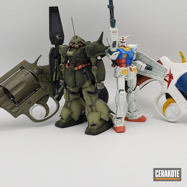 Cerakoted: S.H.O.T,Corvette Yellow H-144,Snow White H-136,Graphite Black H-146,Revolver,Ridgeway Blue H-220,RIA,Gundam,O.D. Green H-236,.38,SMITH & WESSON® RED H-216