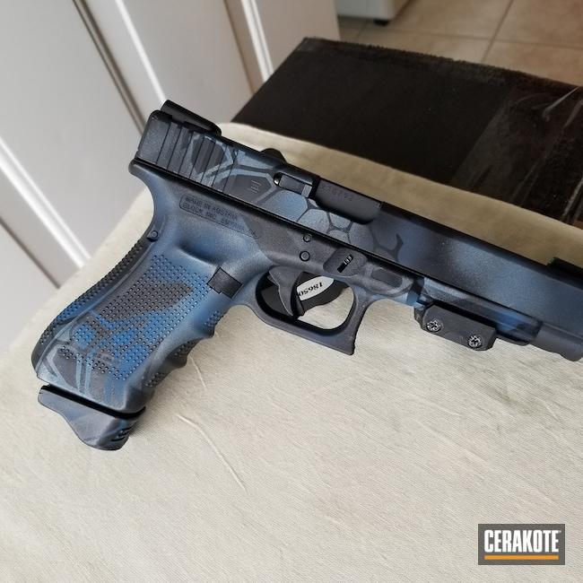 Cerakoted: S.H.O.T,Custom Glock,Kryptek,Snow White H-136,Graphite Black H-146,Ridgeway Blue H-220,Glock,Glock 35,Typhoon,Blue Titanium H-185