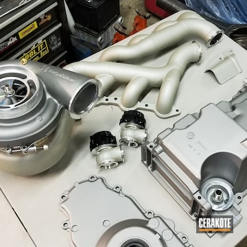 Cerakoted Refinished Headers And Turbo In C-129 And C-7900