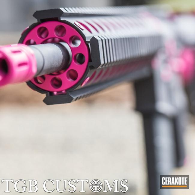 Cerakoted: S.H.O.T,Graphite Black H-146,Two Tone,SIG™ PINK H-224,Girls Gun,Tactical Rifle,80 Percent Build,AR-15,Ladies
