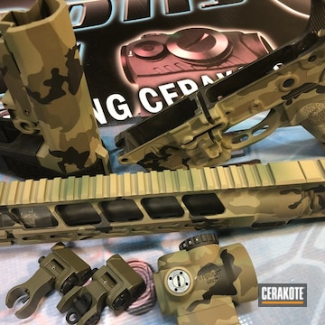 Cerakoted Multicam Ar Rifle Parts
