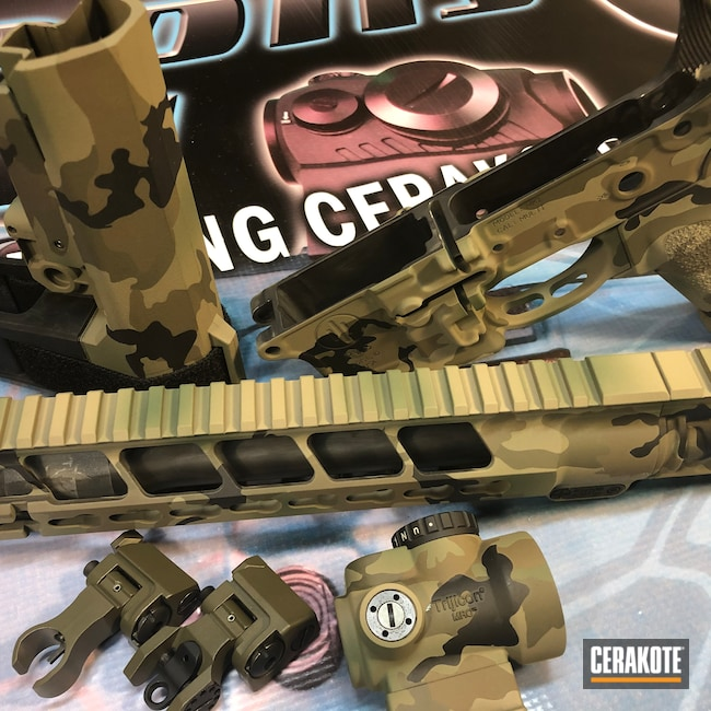 Cerakoted: S.H.O.T,Woodland Camo Pattern,MAGPUL® FLAT DARK EARTH H-267,Graphite Black H-146,Patriot Brown H-226,Tactical Rifle,O.D. Green H-236,Forest Green H-248,5.56,AR-15