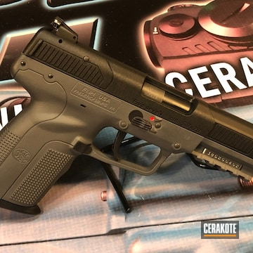 Cerakoted Fn Handgun In H-146 And C-239
