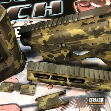 Cerakoted Multicam 5.56 Parts In H-234, H-146 And H-231