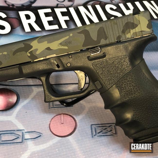 Cerakoted: S.H.O.T,9mm,Sniper Grey H-234,MultiCam,Graphite Black H-146,Glock,Glock 23,MAGPUL® FOLIAGE GREEN H-231