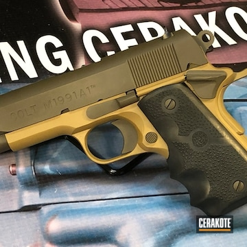 Cerakoted Two Toned 1911 Colt .45 In H-187 And H-226