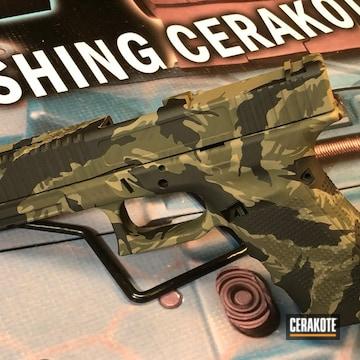 Cerakoted Glock 19 Vietnam Tiger Stripe Camo