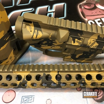 Cerakoted Ar-15 Parts Rhodesian Camo In H-187, H-146 And H-226
